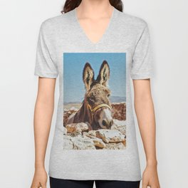 Donkey photo Unisex V-Neck