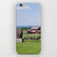 battlefield iPhone & iPod Skins featuring Barn on the Battlefield by Scenic Sights by Tara