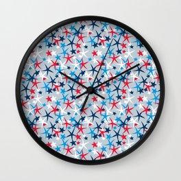 4th of July Stars Wall Clock