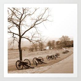 Gettysburg Cannons Art Print