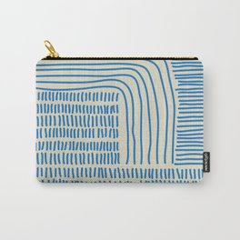 Digital Stitches thick beige + blue Carry-All Pouch