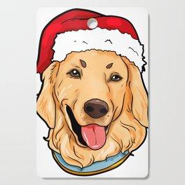 Golden Retriever Dog Christmas Hat Pre4sent Cutting Board