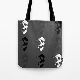 Skull 3x3 - White/Grey/Black Tote Bag