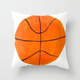 Orange Basketball Throw Pillow