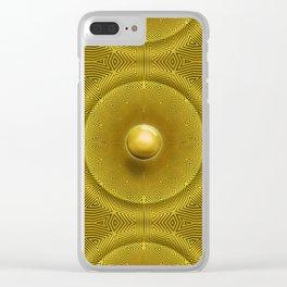 Golden Sunrise Pattern Clear iPhone Case