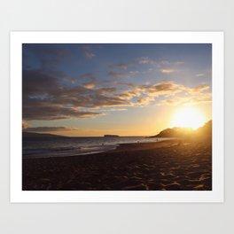 SUMMER SUNSET AT MAKENA BEACH Art Print