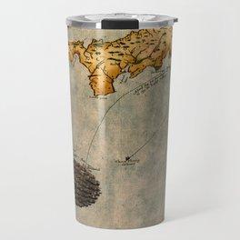 Map Of Cornwall 1588 Travel Mug