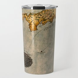 Map Of Cornwall 1588 Travel Mug