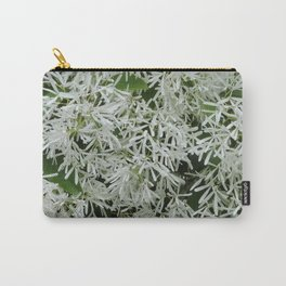 TEXTURES: White on Green Carry-All Pouch