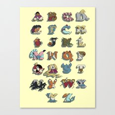 The Disney Alphabet Canvas Print