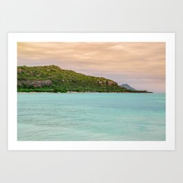 Colorful Day at the Beach Art Print