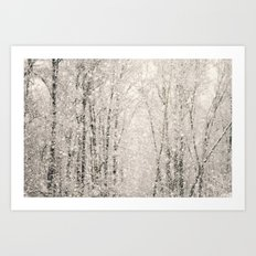 The White Stuff Art Print