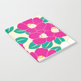 Japanese Style Camellia - Pink and White Notebook