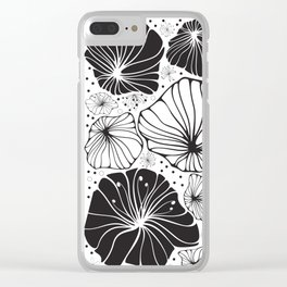 Flowers in black and white Clear iPhone Case