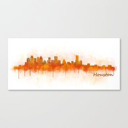 Houston City Skyline Hq v3 Canvas Print
