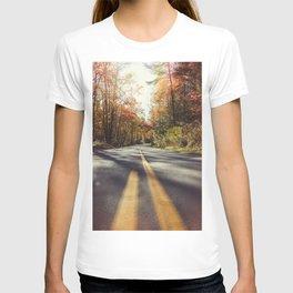 Long mountain road in autumn T-shirt