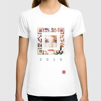 emma stone T-shirts featuring emma qr square'd by David Mark Lane