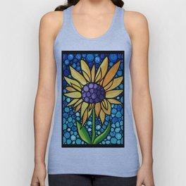 Standing Tall - Sunflower Art By Sharon Cummings Unisex Tank Top