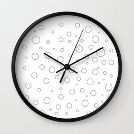 Design blue dots on white Wall Clock