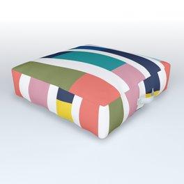 Pantone Colors Geometric Outdoor Floor Cushion