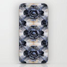 Wrought Iron Trellis Flowers iPhone Skin