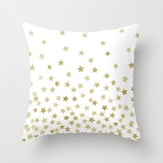 STARS GOLD Throw Pillow