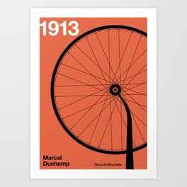 1913 - Roue de Bicyclette - Marcel Duchamp Art Print