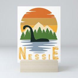 Nessie vintage sunset Mini Art Print