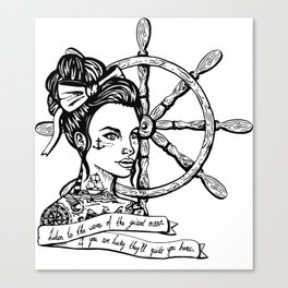Sailor Woman Canvas Print