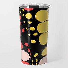 Abstract Butterfly Print Travel Mug