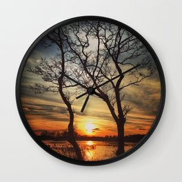 Natural Picture Frame Wall Clock