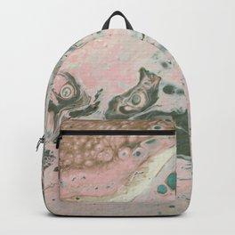 Dirty Acrylic Paint Pour 19, Fluid Art Reproduction Backpack