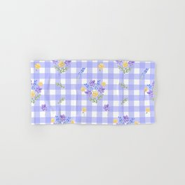 Spring picnic bouquets in Provence blue Hand & Bath Towel
