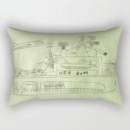 The USS Ryan Carrier Rectangular Pillow