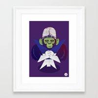 jojo Framed Art Prints featuring Mojo Jojo by Hailstorm Tee