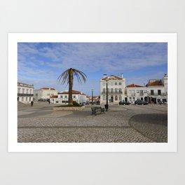 Nazaré Plaza Art Print