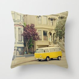 San Francisco Heights and Van Throw Pillow