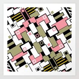 C13D GeoAbstract 2 Art Print