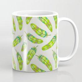 Green flowery feathers Coffee Mug