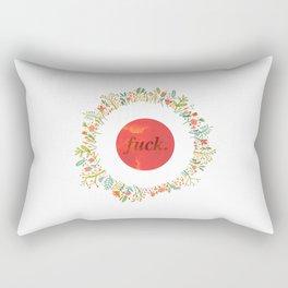 give a floral fuck Rectangular Pillow