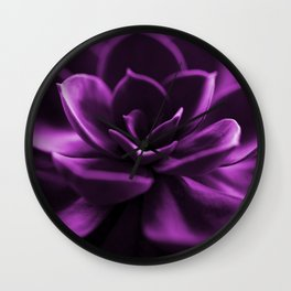 Succulent Plant In Violet Color #decor #society6 #homedecor Wall Clock