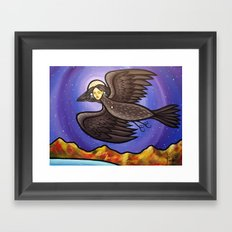 The Night I Was Healed I Flew To The Stars Framed Art Print