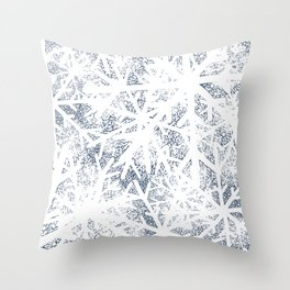 Abstract Blizzard: Snow in a Whiteout Throw Pillow