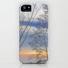 Sunset over a lake iPhone Case