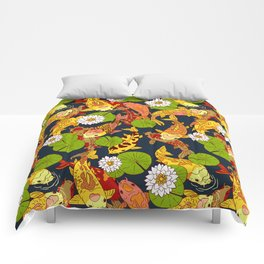 Bright Koi Comforters
