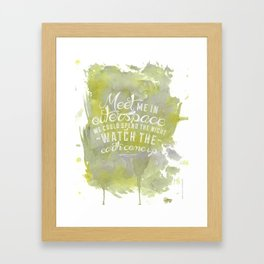 LYRICS - Meet me in outerspace - COLOR Framed Art Print