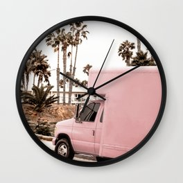 Blush Tropical Venice Wall Clock