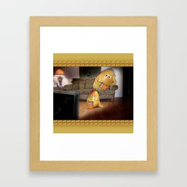 Father And Son Couch Potatoes Framed Art Print