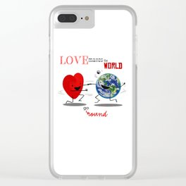 Love makes the world go 'round Clear iPhone Case