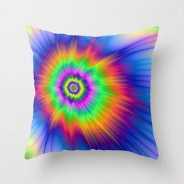 Tie Dye Fireball Throw Pillow